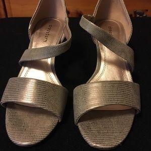 Gold dressy sandals